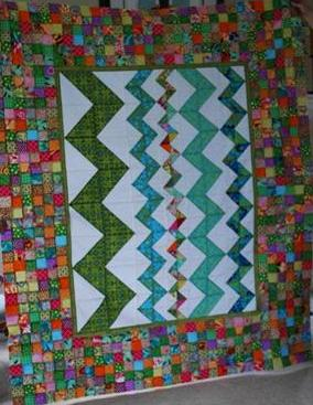 Stephanie's Orphaned Quilt From Helen