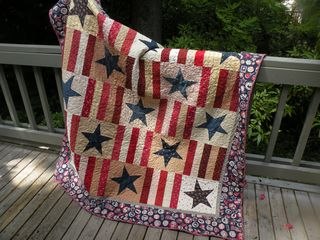 Stars and bars quilt