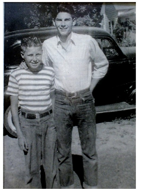 Dad and grant as kids
