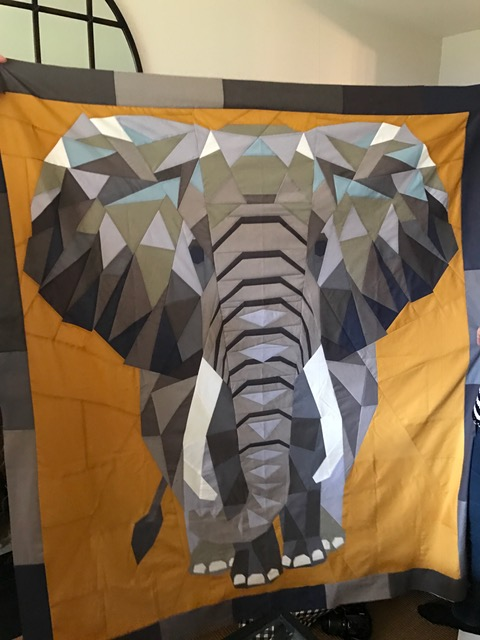Janets elephant quilt 2