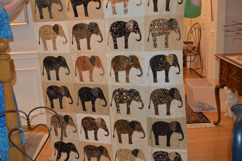 Janets elephant quilt